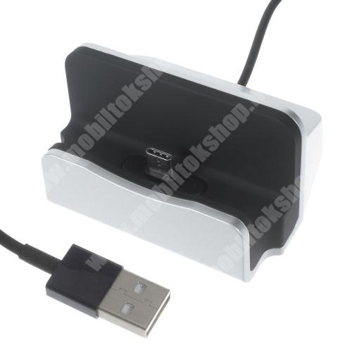 Sony Xperia X Compact (F5321) Asztali töltő / dokkoló - adatátviteli állvány, USB 3.1 Type C, 1m-es kábellel - EZÜST