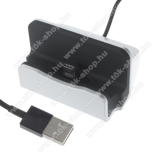 SAMSUNG SM-T547 Galaxy Tab Active Pro (LTE)Asztali töltő / dokkoló - adatátviteli állvány, USB 3.1 Type C, 1m-es kábellel - EZÜST
