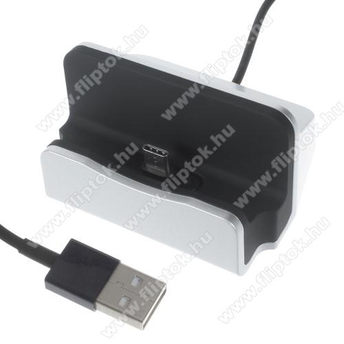 LG G Pad 5 10.1Asztali töltő / dokkoló - adatátviteli állvány, USB 3.1 Type C, 1m-es kábellel - EZÜST