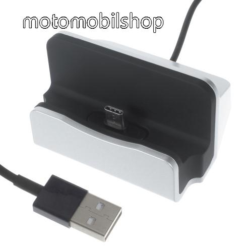 MOTOROLA Moto Z Asztali töltő / dokkoló - adatátviteli állvány, USB 3.1 Type C, 1m-es kábellel - EZÜST