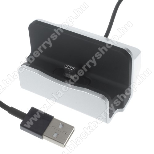 BLACKBERRY Evolve XAsztali töltő / dokkoló - adatátviteli állvány, USB 3.1 Type C, 1m-es kábellel - EZÜST