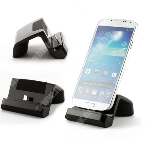 myPhone Pocket Asztali töltő és adatátviteli állvány - microUSB, 97cm-es töltőkábellel - FEKETE