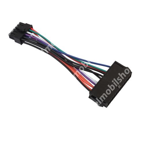 ATX táp csatlakozó átalakító - 24Pin to 12Pin, 15cm hosszú - FEKETE