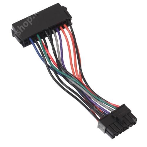 ATX táp csatlakozó átalakító - 24Pin to 14Pin, 15cm hosszú - FEKETE