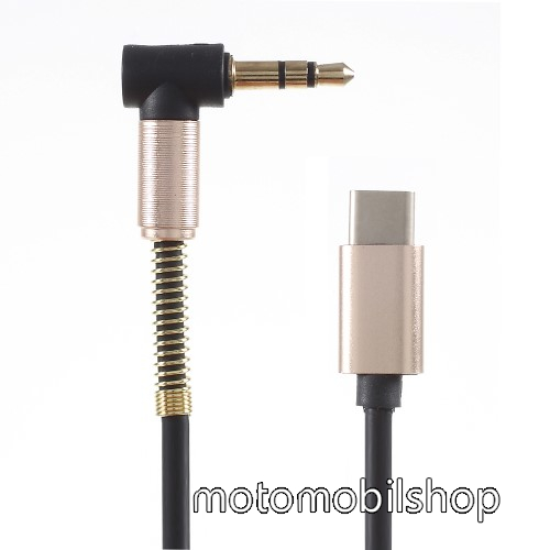 Audió kábel 3.5 mm jack / Type-C csatlakozó, 1m - ARANY