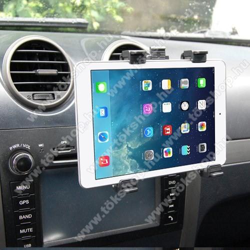 Autós / gépkocsi TABLET PC tartó - szellőzőrácsra helyezhető - 142-250mm-ig állítható bölcső, 8-11