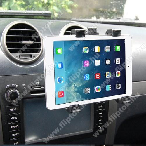 LG G Pad 5 10.1Autós / gépkocsi TABLET PC tartó - szellőzőrácsra helyezhető - 142-250mm-ig állítható bölcső, 8-11
