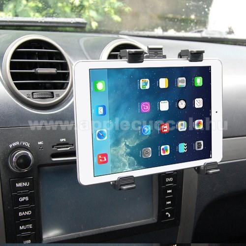 APPLE iPad 9.7 (5th generation) (2017)Autós / gépkocsi TABLET PC tartó - szellőzőrácsra helyezhető - 142-250mm-ig állítható bölcső, 8-11