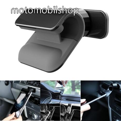 MOTOROLA EM325 Autós / gépkocsi tartó - csiptetős, műszerfalra ragasztható, 360°-ban forgatható - FEKETE