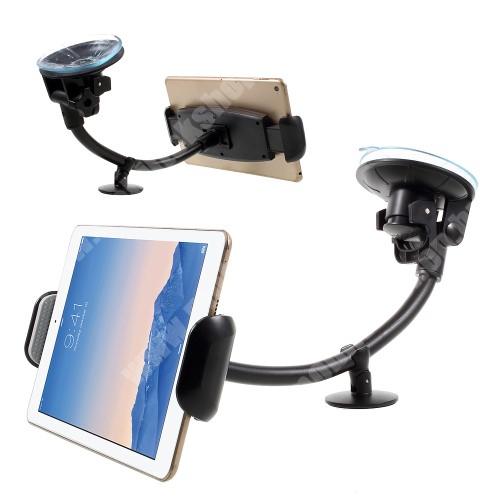 """APPLE iPad Autós / gépkocsi tartó - tapadókorongos, hosszú karral!, 360°-ban forgatható - 7-15"""" készülékekig használható"""