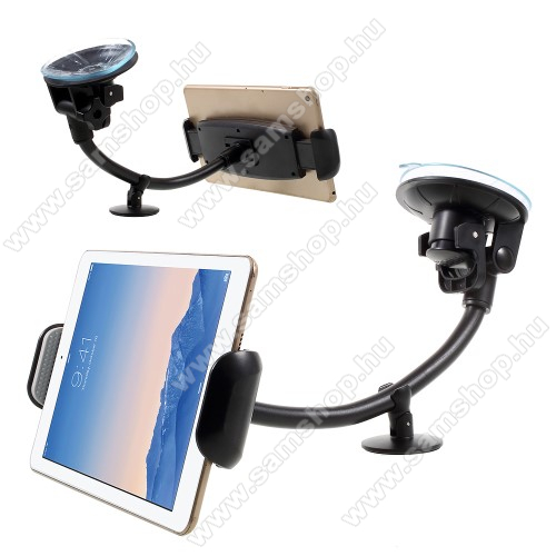 SAMSUNG GT-N5110 Galaxy Note 8.0Autós / gépkocsi tartó - tapadókorongos, hosszú karral!, 360°-ban forgatható - 7-15