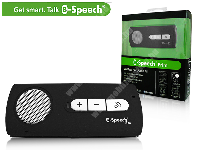 B-Speech PRIM Bluetooth autós kihangosító - Black, v2.1 MultiConnection (egyszerre 2 különböző telefonnal használható!)