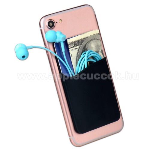 APPLE iPad 2Bankkártyatartó, headset tartó zseb - készülékre ragasztható, 3M - FEKETE - 85 x 56 x 3mm