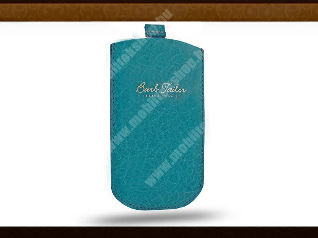 Barb Tailor Turchese Slim univerzális valódi bőrtok - Samsung i9100 Galaxy S II/ZTE Skate/HTC Sensation - türkiz kék