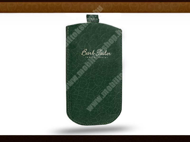 Barb Tailor Verde Petrolio Slim univerzális valódi bőrtok - Samsung i9000 Galaxy S/HTC Desire S/Sony Ericsson Xperia Arc - sötét zöld