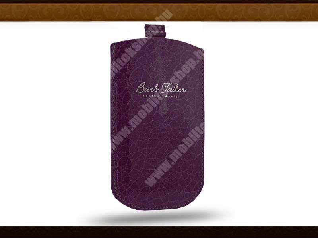 Barb Tailor Viola Porporino Slim univerzális valódi bőrtok - Samsung S5230 Star/Nokia C5-03/X3-02 - lila