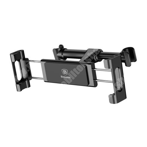 """HUAWEI MediaPad M3 8.4 BASEUS autós / gépkocsi tartó - fejtámlához rögzíthető, 4,7 - 12,9"""" kijelzőjű készülékekhez - FEKETE - GYÁRI"""