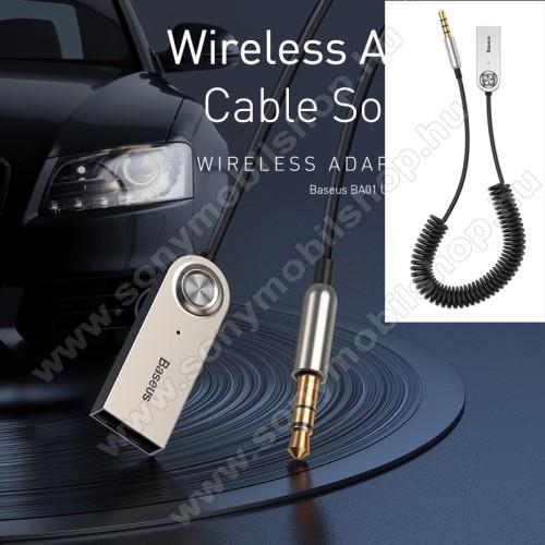 SONY Xperia M DUALBASEUS BA01 Bluetooth audio transmitter - 3,5mm jack csatlakozó, V5.0, beépített mikrofon - FEKETE - GYÁRI