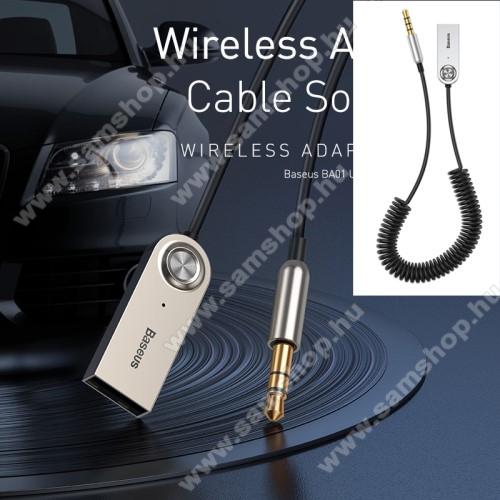 SAMSUNG SM-P600 Galaxy Note 10.1BASEUS BA01 Bluetooth audio transmitter - 3,5mm jack csatlakozó, V5.0, beépített mikrofon - FEKETE - GYÁRI