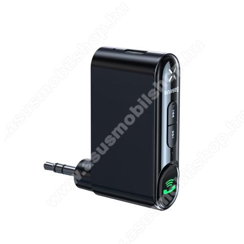ASUS Fonepad 7 (2015) FE375CLBASEUS bluetooth audio transmitter - v5.0, audio vevő, 3,5mm jack csatlakozó, beépített 145mAh akkumulátor, felevő gomb - FEKETE - GYÁRI