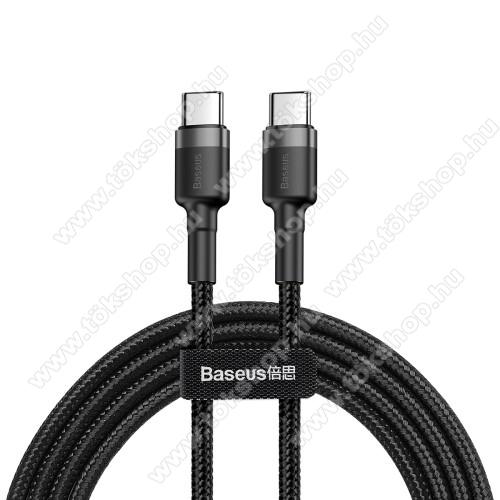 vivo V20 SEBASEUS Cafule adatátviteli kábel / USB töltő - Type-C / Type-C, PD2.0, 2m, 3A, 480Mbps adatátviteli sebesség, gyorstöltés támogatás, 60W, törésgátló, szövettel bevont, max 20V/3A - FEKETE - GYÁRI