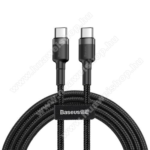 HUAWEI nova 7 5GBASEUS Cafule adatátviteli kábel / USB töltő - Type-C / Type-C, PD2.0, 2m, 3A, 480Mbps adatátviteli sebesség, gyorstöltés támogatás, 60W, törésgátló, szövettel bevont, max 20V/3A - FEKETE - GYÁRI