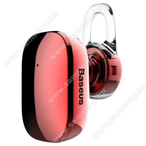 SAMSUNG Galaxy Grand 3 (SM-G7200) BASEUS Encok A02 bluetooth headset - v.4.1, fülbe dugható, USB töltő - PIROS - GYÁRI