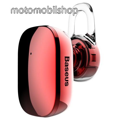 MOTOROLA Moto E4 BASEUS Encok A02 bluetooth headset - v.4.1, fülbe dugható, USB töltő - PIROS - GYÁRI