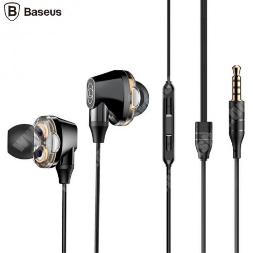 LG G4c (H525N) BASEUS ENCOK H10 fülhallgató SZTEREO (3.5mm jack, nyakba akasztható, mikrofon, dinamikus hangzás) FEKETE - NGH10-01 - GYÁRI