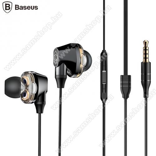 SAMSUNG GT-T401GBASEUS ENCOK H10 fülhallgató SZTEREO (3.5mm jack, nyakba akasztható, mikrofon, dinamikus hangzás) FEKETE - NGH10-01 - GYÁRI