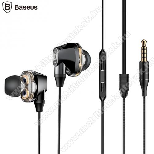 BASEUS ENCOK H10 fülhallgató SZTEREO (3.5mm jack, nyakba akasztható, mikrofon, dinamikus hangzás) FEKETE - NGH10-01 - GYÁRI