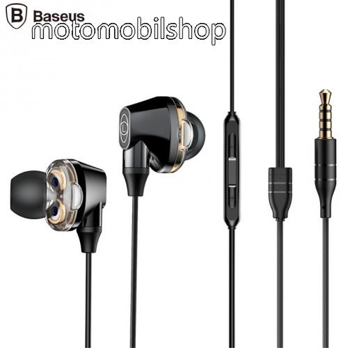 MOTOROLA VE66 BASEUS ENCOK H10 fülhallgató SZTEREO (3.5mm jack, nyakba akasztható, mikrofon, dinamikus hangzás) FEKETE - NGH10-01 - GYÁRI