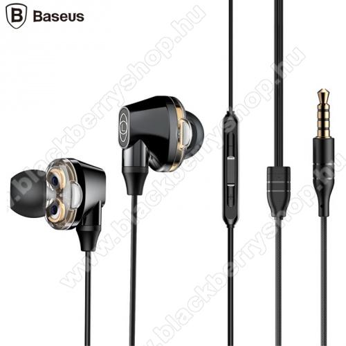 BLACKBERRY 9520 Storm 2BASEUS ENCOK H10 fülhallgató SZTEREO (3.5mm jack, nyakba akasztható, mikrofon, dinamikus hangzás) FEKETE - NGH10-01 - GYÁRI