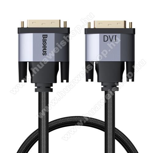 BASEUS Enjoyment Series DVI - DVI kábel - 1m hosszú, 2K HD, kétirányú, szövettel bevont kábel - FEKETE - GYÁRI