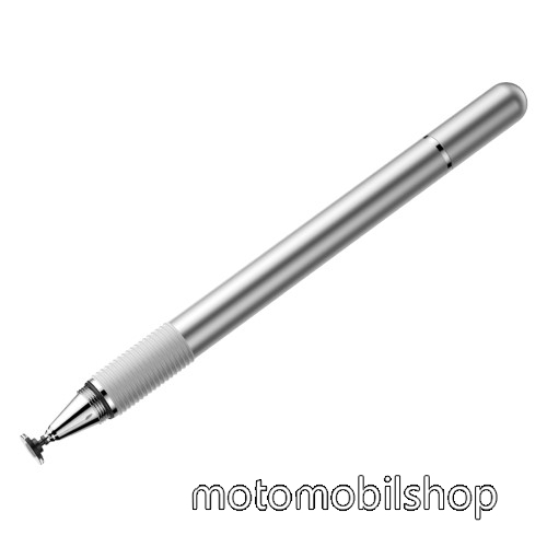 MOTOROLA Moto Z4 BASEUS érintőképernyő ceruza / golyós toll - kapacitív kijelzőhöz, KÉZÍRÁSRA, RAJZOLÁSRA ALKALMAS - EZÜST - GYÁRI