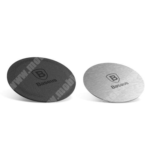 Oppo R9 Plus BASEUS fémlap mágneses autós tartókhoz - 2db - GYÁRI