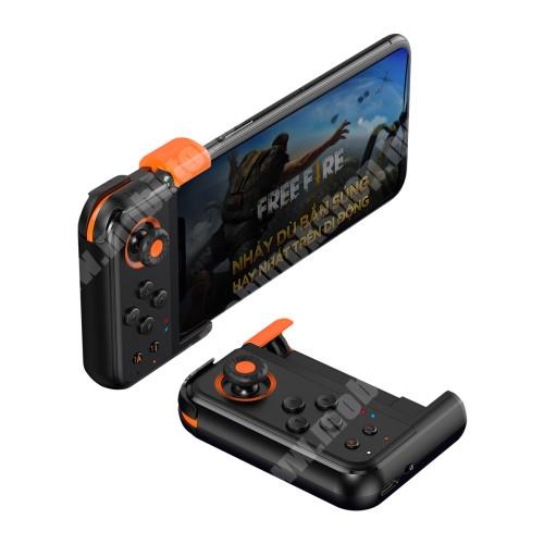"""ZTE Blade A520 BASEUS GAMO GA05 UNIVERZÁLIS Kontroller / Joystick -Bluetooth 4.0,  ravasz FPS játékokhoz, 7 programozható gomb, PUBG-hez ajánlott, 6.5""""-os méretig kompatibilis okostelefonokkal - FEKETE"""