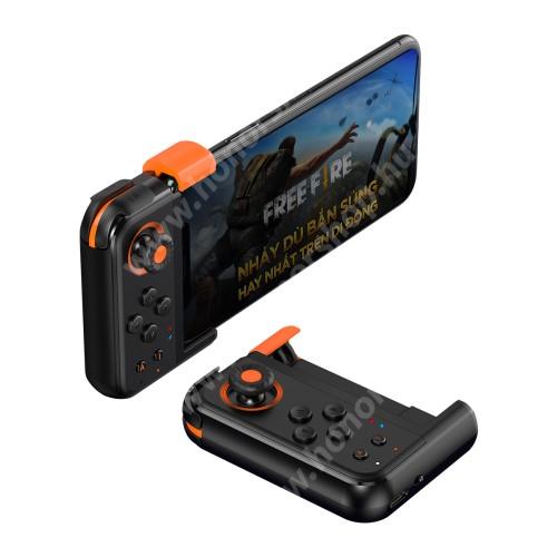 HUAWEI Honor V40 5G BASEUS GAMO GA05 UNIVERZÁLIS Kontroller / Joystick -Bluetooth 4.0,  ravasz FPS játékokhoz, 7 programozható gomb, PUBG-hez ajánlott, 65-83mm szélességű készülékekhez haszálható - FEKETE