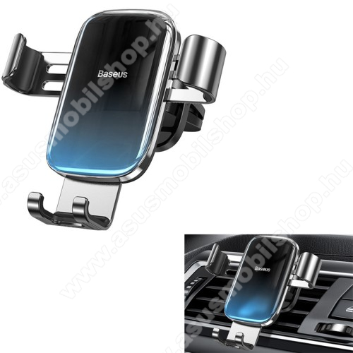 BASEUS Glaze Gravity univerzális autós / gépkocsi tartó - FEKETE / KÉK - szellőzőrácsra rögzíthető,  4.7-6.5