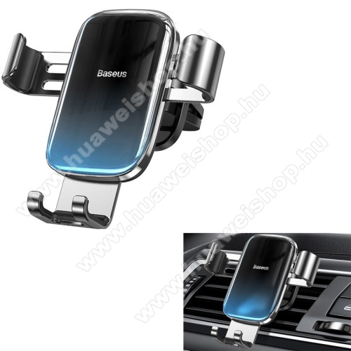 HUAWEI Enjoy 9BASEUS Glaze Gravity univerzális autós / gépkocsi tartó - FEKETE / KÉK - szellőzőrácsra rögzíthető,  4.7-6.5