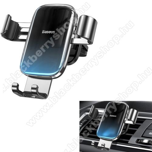 BLACKBERRY Z3BASEUS Glaze Gravity univerzális autós / gépkocsi tartó - FEKETE / KÉK - szellőzőrácsra rögzíthető,  4.7-6.5