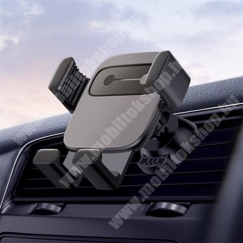 """HUAWEI Y7 Prime (2018) BASEUS Gravity Cube univerzális autós / gépkocsi tartó - FEKETE - szellőzőrácsra rögzíthető, 4,7-6,6""""-os készülékekhez - GYÁRI"""