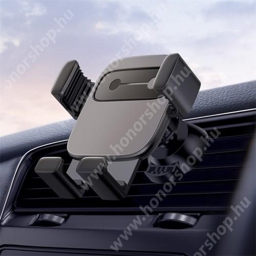 """BASEUS Gravity Cube univerzális autós / gépkocsi tartó - FEKETE - szellőzőrácsra rögzíthető, 4,7-6,6""""-os készülékekhez - GYÁRI"""