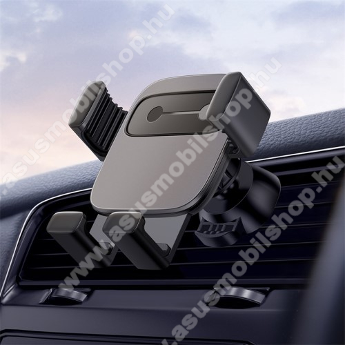 ASUS Zenfone 4 (ZE554KL)BASEUS Gravity Cube univerzális autós / gépkocsi tartó - FEKETE - szellőzőrácsra rögzíthető, 4,7-6,6