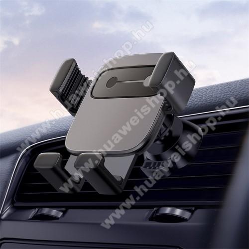 HUAWEI Enjoy 9BASEUS Gravity Cube univerzális autós / gépkocsi tartó - FEKETE - szellőzőrácsra rögzíthető, 4,7-6,6