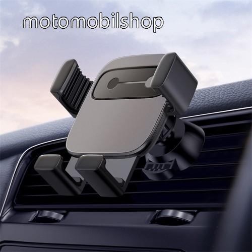 """MOTOROLA Moto G4 Plus BASEUS Gravity Cube univerzális autós / gépkocsi tartó - FEKETE - szellőzőrácsra rögzíthető, 4,7-6,6""""-os készülékekhez - GYÁRI"""
