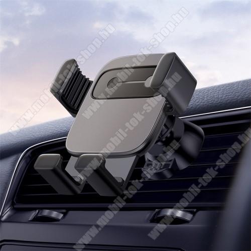 BASEUS Gravity Cube univerzális autós / gépkocsi tartó - FEKETE - szellőzőrácsra rögzíthető, 4,7-6,6