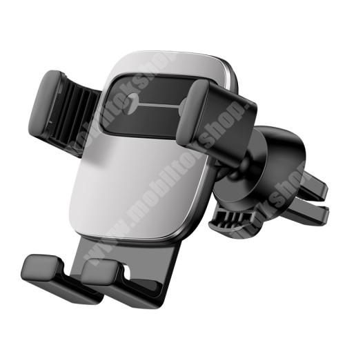"""MOTOROLA Moto G4 BASEUS Gravity Cube univerzális autós / gépkocsi tartó - EZÜST - szellőzőrácsra rögzíthető, 4,7-6,6""""-os készülékekhez - GYÁRI"""