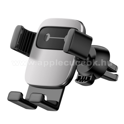 APPLE iPhone 6 PlusBASEUS Gravity Cube univerzális autós / gépkocsi tartó - EZÜST - szellőzőrácsra rögzíthető, 4,7-6,6