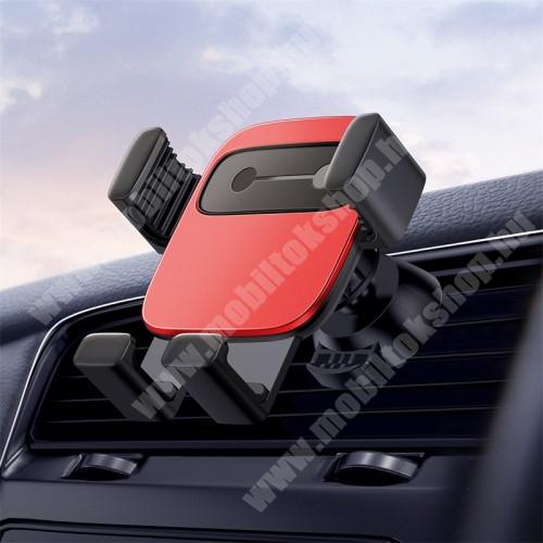 """ALCATEL Flash (2017) BASEUS Gravity Cube univerzális autós / gépkocsi tartó - PIROS - szellőzőrácsra rögzíthető, 4,7-6,6""""-os készülékekhez - GYÁRI"""